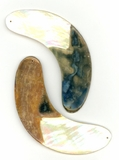 Mother Of Pearl Half-Moon Shell Pendants 90mm