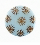 Majong-Majong Seeds Inlay Round Light Blue 40mm