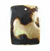 Brownlip Rectangular Moon Shell Pendants