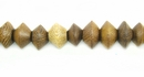 Robles Saucer Wood Beads 4x7mm