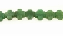 Cross Aventurine Beads 8x8x4mm