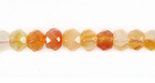 Carnelian Faceted Rondelle Beads 6x4mm