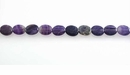Purple Fluorite Oval Beads
