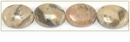 Feldspath Graphic Flat Oval Beads