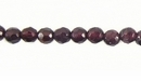 Garnet Faceted Round 4mm