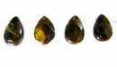 Tiger Eye Faceted Briolette Beads 6x8mm