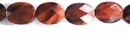 Red Tiger Eye Faceted Flat Oval 10x14x5mm