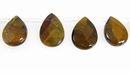 Tiger Eye Faceted Teardrop 8x12mm