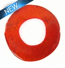 Lam. Capiz Shell Irregular Donut 50mm - Orange