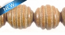 Bayong Carved Spiral  15mm Round w/ 3mm Hole