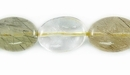 Rutilated Quartz Flat Oval Beads 10x14mm