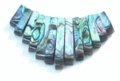 Paua Tapered Elongated Beads