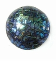 Mosaic Paua Shell Inlaid Dome Pendant 12-13x48mm