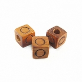 "Bayong Alphabet Wood Bead 8mm ""O"""