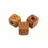 "Bayong Alphabet Wood Bead 8mm ""W"""