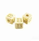 "Whitewood Alphabet Wood Bead 8mm ""B"""
