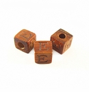 "Bayong Alphabet Wood Bead 8mm ""E"""