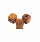 "Bayong Alphabet Wood Bead 8mm ""I"""