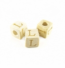"Whitewood Alphabet Wood Bead 8mm ""L"""