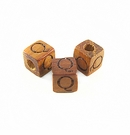 "Bayong Alphabet Wood Bead 8mm ""Q"""