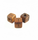 "Bayong Alphabet Wood Bead 8mm ""T"""
