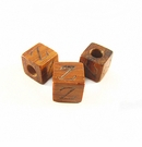 "Bayong Alphabet Wood Bead 8mm ""Z"""