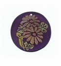 Violet Capiz Shell Round Laminated Daisy Flower 30mm