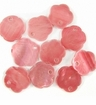 Light Red Flower Hammershell Beads 10mm
