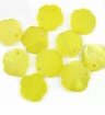 Light Yellow Flower Hammershell Beads 10mm