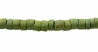 Khaki Green Coco Heishi Beads 4-5mm