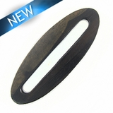 Black Ebony Flat Oval Kalar