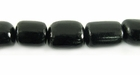 Black Oval Buri Beads 10-12mm-8-9mm