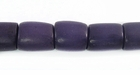 Purple Buri Tube Beads 10x8mm