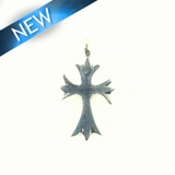 Cross-Medieval Inspired Silver Finish 10X21mm