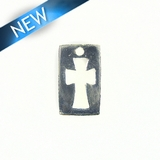 Cross-Crusader Inspired Silver Finish 12x20mm