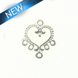 Chandelier Earring Component Silver Finish 12x22mm