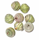 Green Bicone Paper Beads