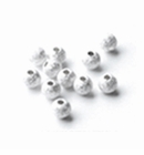 Sterling Silver Round Stardust Beads 5mm