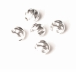 Sterling Silver Beads Twist 6mm