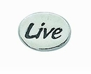 "Message Beads ""Live"" 11x8x3mm"