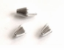 Corrugated Bicone Sterling Silver Beads 5x10mm