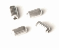 Corrugated Cylinder Sterling Silver Beads 4x8mm