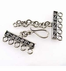 Bali Sterling Silver Clasps 8x20mm