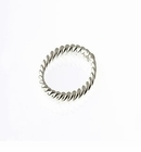 Sterling Silver Twisted Round Jump Rings (Closed) 8mm