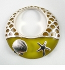 Metal Casted Lemon Sea Shell Resin