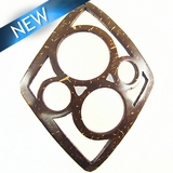 Brown Diamond 4-Ring Pendant