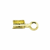 Gold Plated Fold Over Cord Ends - Small