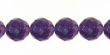 Purple Round Faceted Flourite Beads 8mm