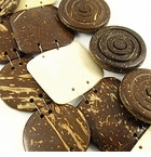 Flat Square & Round Coco Beads