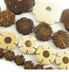 Coco Flower Disc Beads
